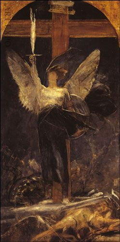 NIKOLAOS GYZIS *1842-1901* Greek * one of Greece's most important 19th-century painters** Archangel