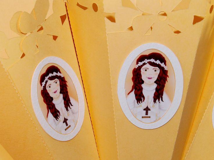 Coni porta confetti per la Prima Comunione - first communion confetti cones