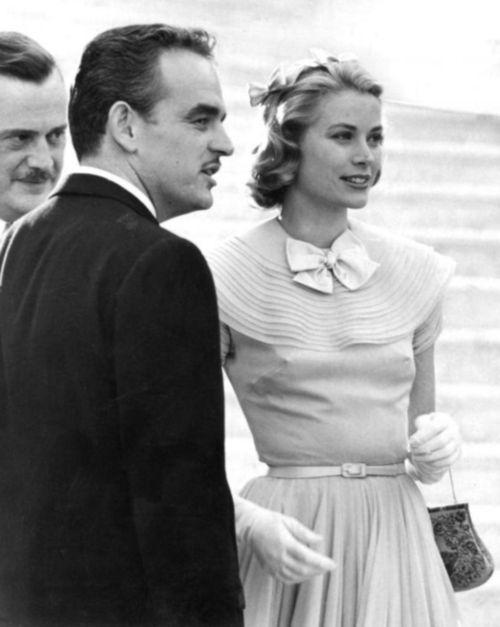 Grace Kelly and Prince Rainier. Monaco, April 17, 1956. #Celebstylewed #Celebrities #Royals. @Celebstylewed