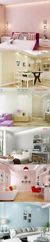 10 Meter Modern Elegant Stripes Bedroom Non Woven Silver Glitter Wallpaper  TV Wall Paper Mural Wallpapers Home Decoration N21