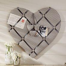Fabric Heart Memo Board