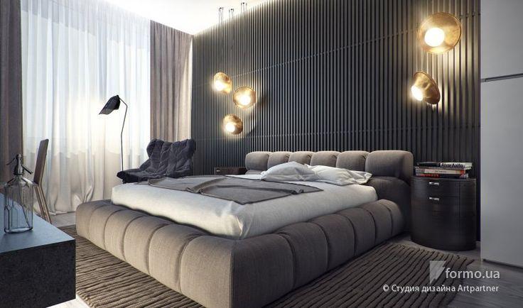 мужская спальня интерьер - Поиск в Google