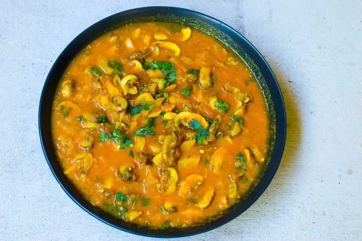 These mushrooms cooked in semi dry tomato gravy spiced up with dry roast kadai masala is a delicious curry. It is easy to make and is full of flavours with delicious taste. Serve with roti or phulkas. Recipe by pooja.  http://ift.tt/2cJIbo3 #Vegetarian #Recipes