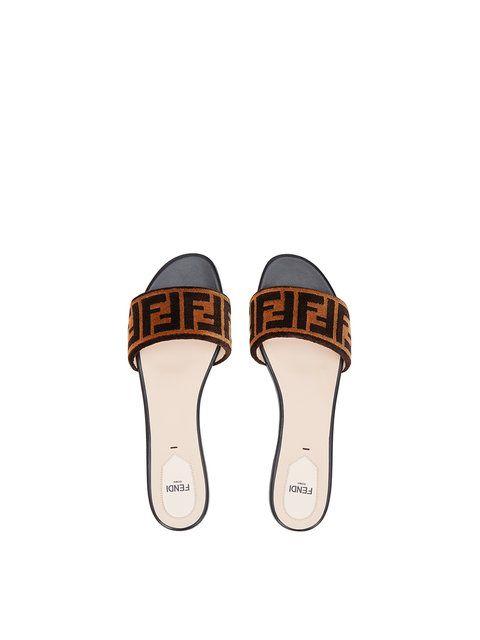 a9868ac7df67 Shop Fendi open toe flat sandals