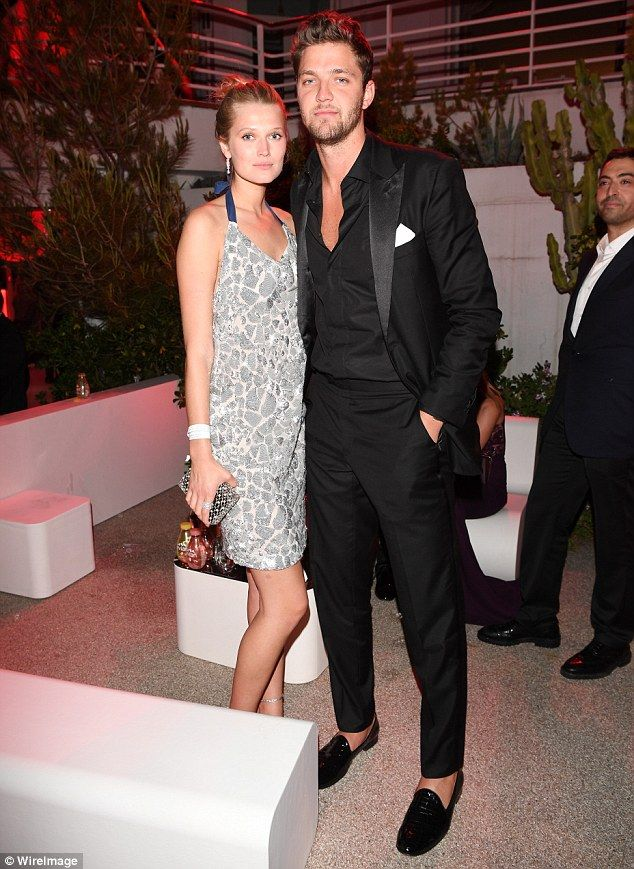 Date night: The cover girl attended AmfAR's 23rd Cinema Against AIDS Gala on Thursday with...