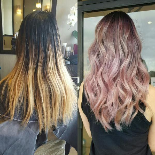 Here's another fromSunny Su (@sunny_bescene)who shows beautiful color work on Instagram. FORMULA and STEPS STEP ONE: Pre-lighten hair with Schwarzkopf Blondme Premium Lightener an inch from the base and lift to level 10. STEP TWO: Then drag the base down with Schwarzkopf Igora 4-29 blend with mid 8-29 and ends 9.5-18 and 9.5-1.