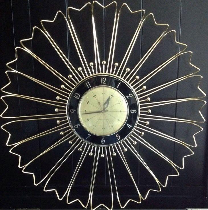 Ge General Electric Sunburst Wall Clock 20 Quot Diameter With