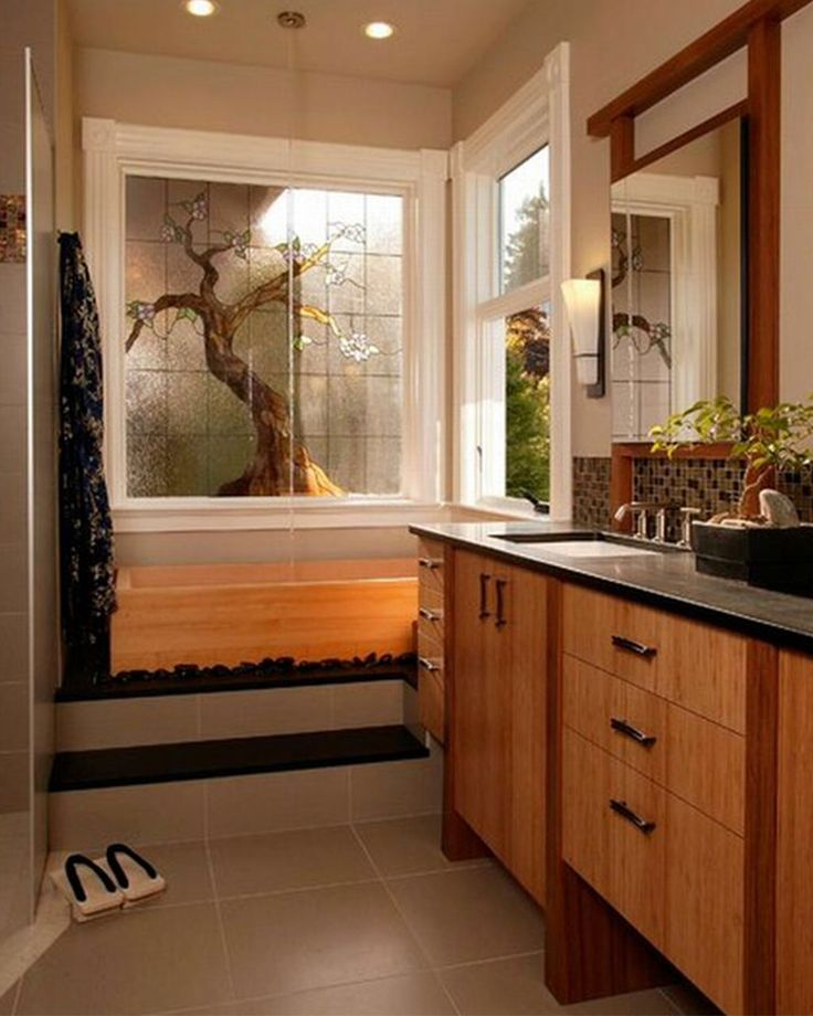 Small Bathroom With Japanese Tub