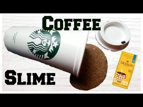 DIY Coffee Slime | How To Make Slime Using REAL Coffee Grounds - YouTube