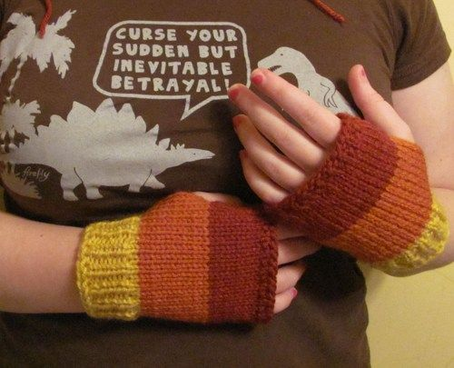 Jayne Cobb cunning knit gloves Firefly Serenity fan art made to order | tinybully - Accessories on ArtFire