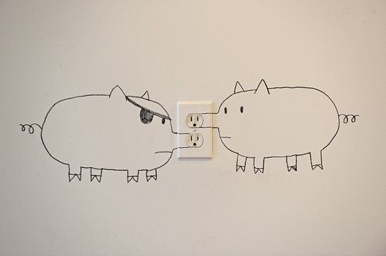 Some people see an outlet others a Snoutlet!