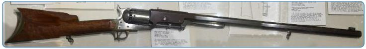 Connecticut State Library, Hartford - The Colt Firearms Collection - Experimental Colt Dragoon rifle.