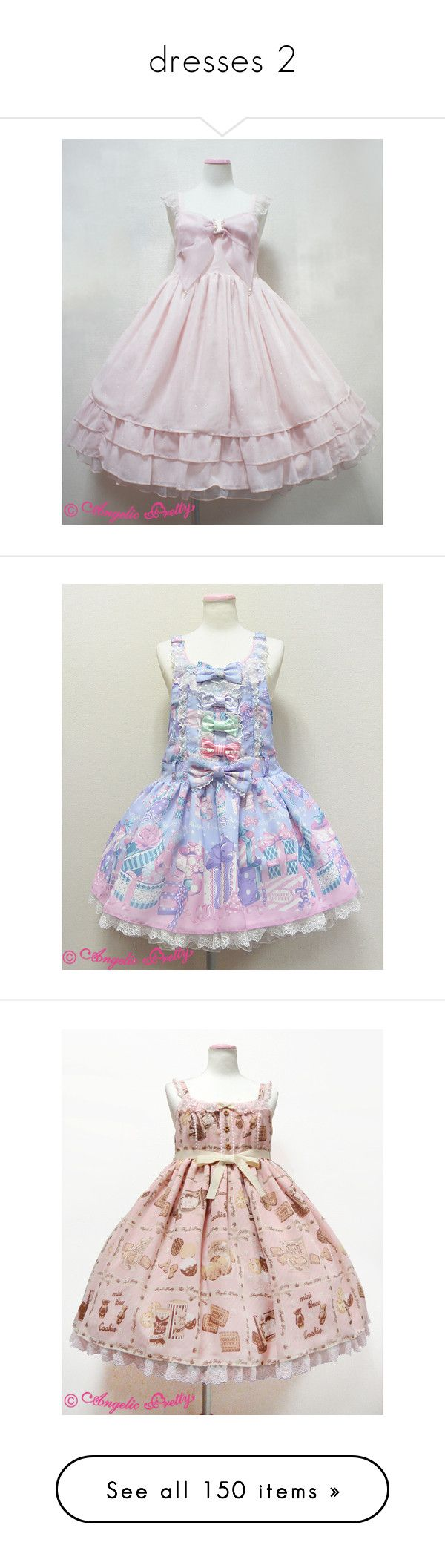 """""""dresses 2"""" by parfait-galaxy ❤ liked on Polyvore featuring lolita, dresses, angelic pretty, op, jumperskirt, jsk, silver, women's clothing, salopette and sheep garden"""