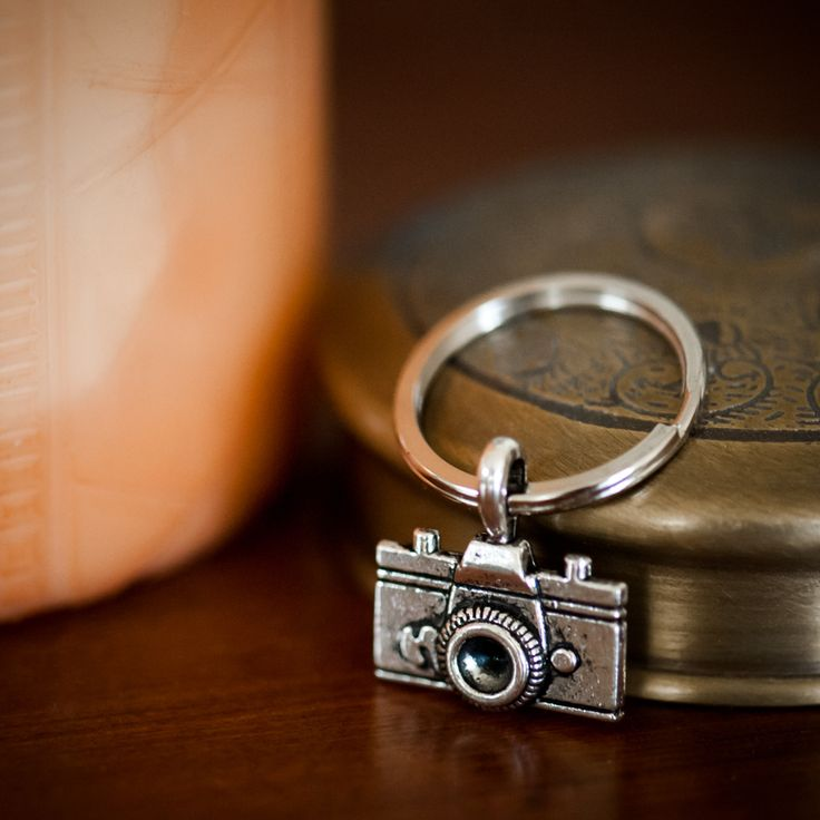 This cute, camera key chain goes with me everywhere!