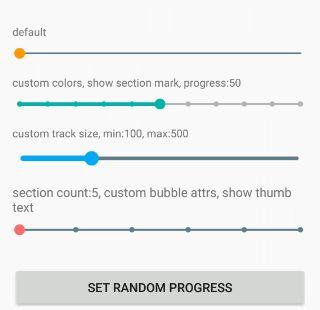 自定义SeekBar,进度变化由可视化气泡样式呈现