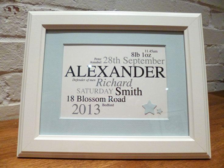 baby name frame alexander - Name Frames