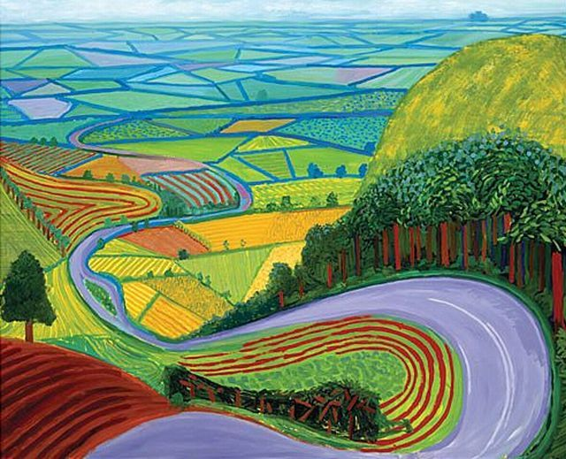 David Hockney Gorrowby Hill