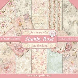 Papier Stamperia -Róże /różowe shabby