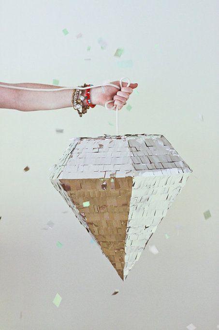 DIY Diamond Pinata - Perfect for bridal showers, engagement parties, weddings, etc!