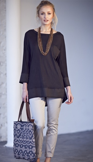 Simple top from White Stuff - although I'd probably wear it as a dress. Bag's nice too