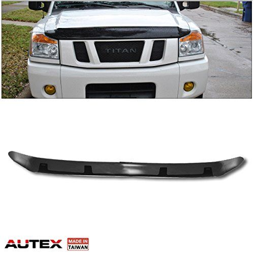 AUTEX Hood Protector Bug Deflector for 2005-2015 Nissan Armada / 2004-2015 Nissan Titan Hood Shield 25402. For product info go to:  https://www.caraccessoriesonlinemarket.com/autex-hood-protector-bug-deflector-for-2005-2015-nissan-armada-2004-2015-nissan-titan-hood-shield-25402/