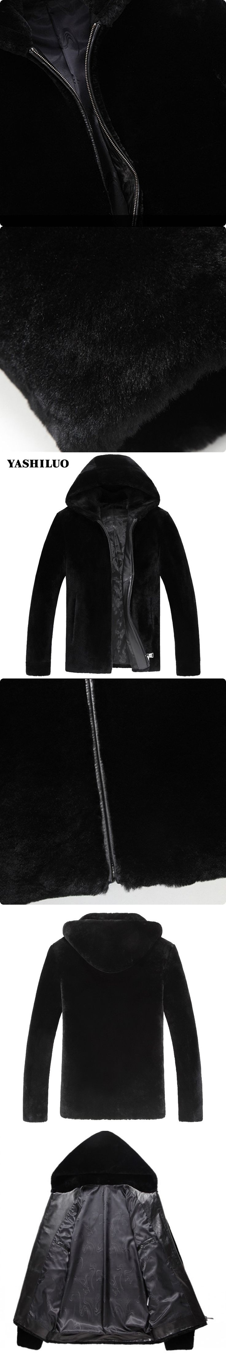 New Arrival Warm Sheepskin Genuine Leather Mens Jacket With Hooded Coat For Male Fashion Chaquetas De Cuero Hombre Blouson Moto