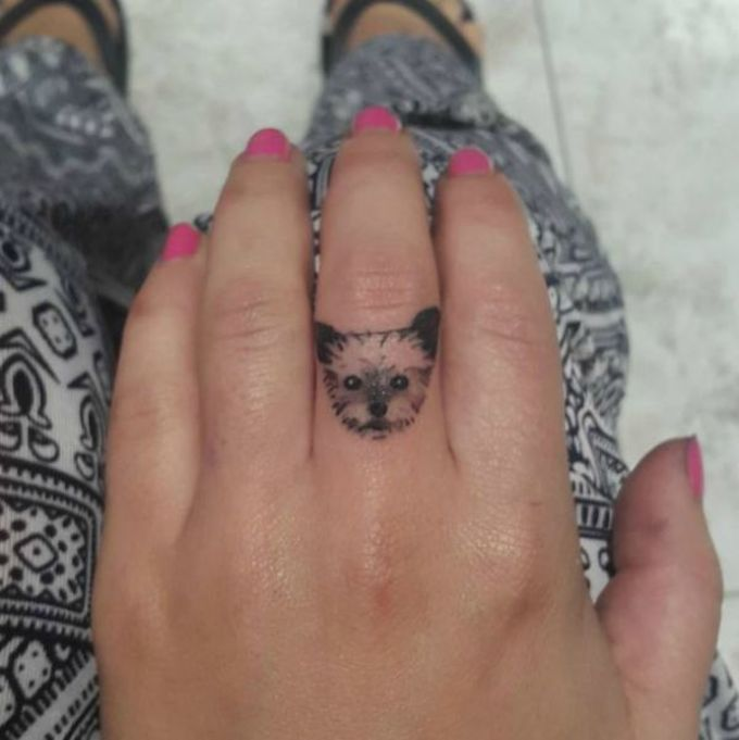 17 best images about 1 2 dog 39 s tattoo on pinterest dog for Animal finger tattoos