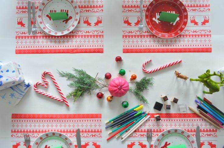 výzdoba stola pre deti, vianoce