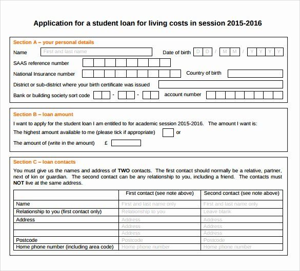 Simple Loan Application Form Template In 2020 Application Form