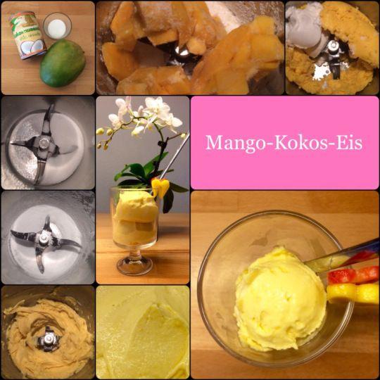 Cremiges Mango-Kokos-Eis … das ging ja einfach & ist sooo lecker!