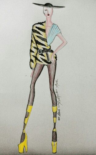 Featured Picsart mobile app for the digital coloring #fashionillustration #fashionsketch