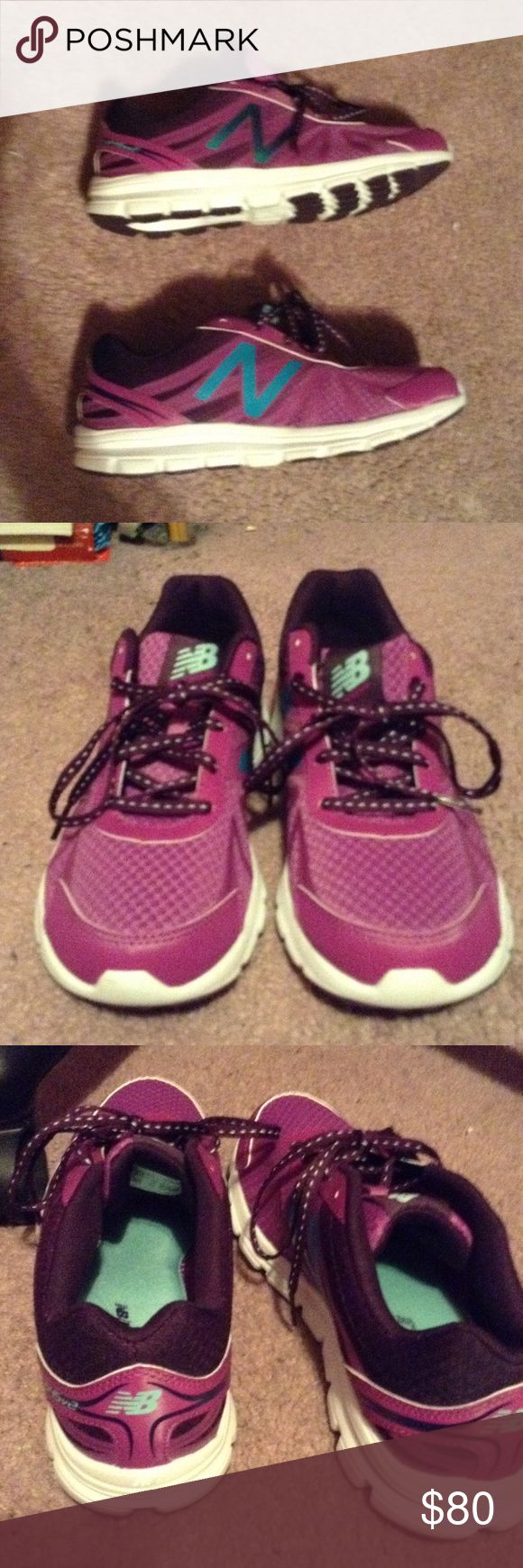 New balance purple running shoes These shoes have memory sole they don't have a box! Haven't worn them they are very stylish brand new! New Balance Shoes Sneakers