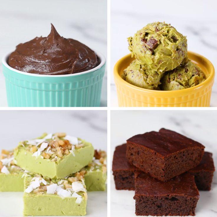 Avocado Desserts 4 Ways #dessert #avocado #health