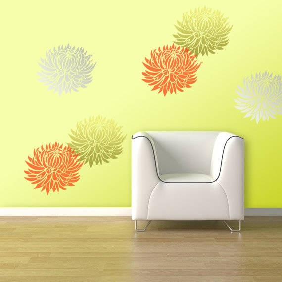 10 best Stencils images on Pinterest | Wall stenciling, Floral wall ...