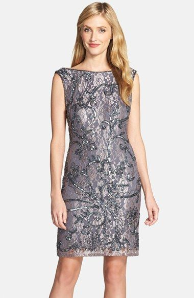 Fall Wedding Guest Dresses | Silver cocktail dress for a wedding guest outfit
