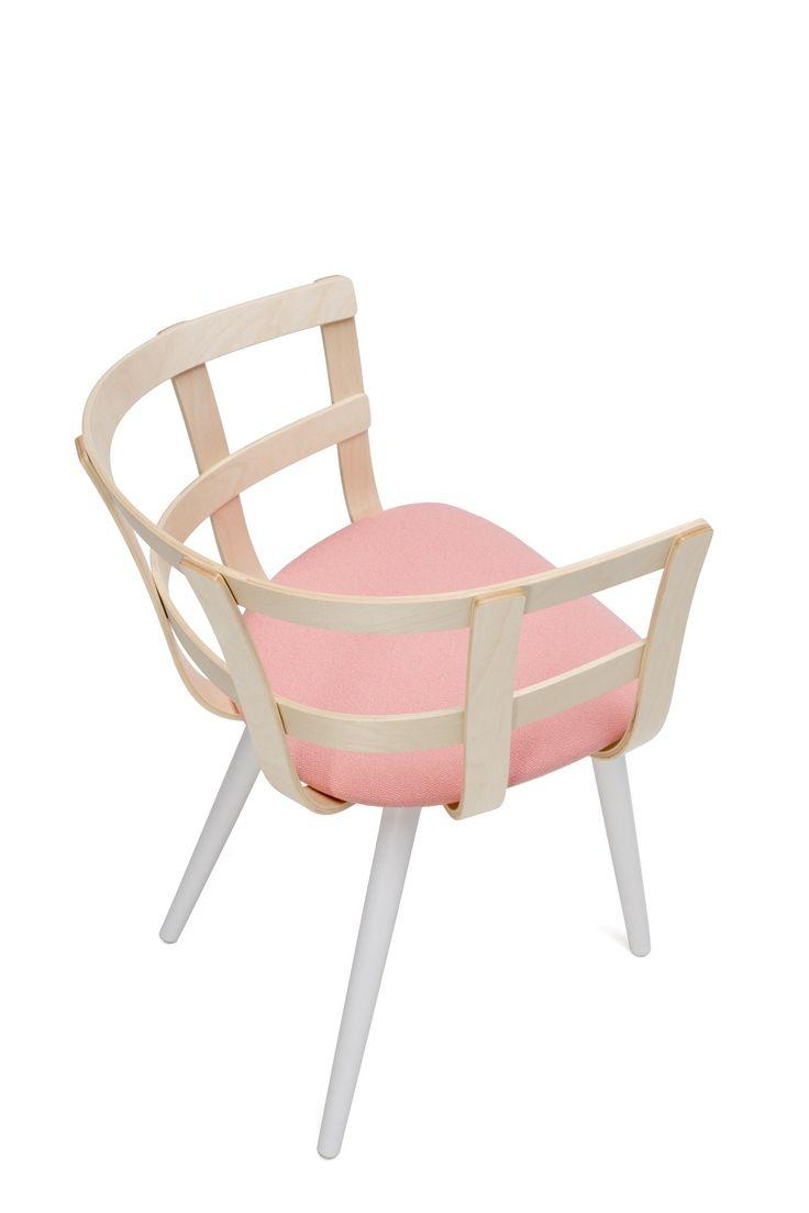 Wooden chair with armrests JULIE by Inno Interior Oy design Julie Tolvanen