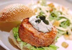 Hambúrguer Artesanal de Salmão