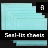 Instant Seal-Itz Strips for Glass Photo Jewelry Making - Pack Of 6 Full Size Sheets