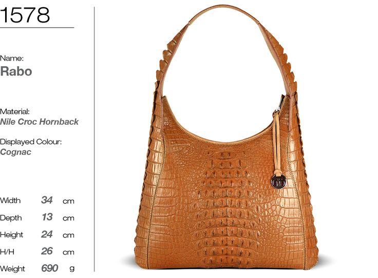 genuine nile crocodile leather handbag - RABO style