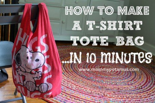 10 Minute T-Shirt No-Sew Bag Tutorial - DIY Gift World