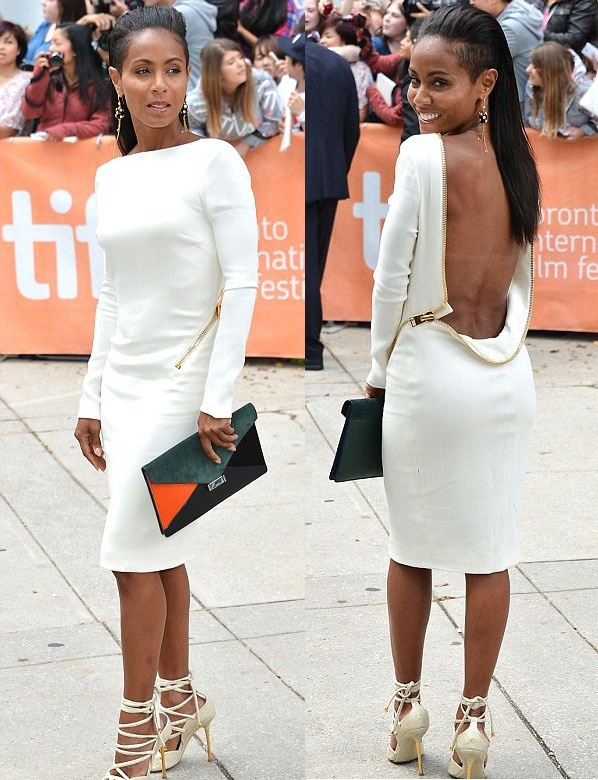 Tom Ford dress and shoes (Jada Pinkett-Smith)