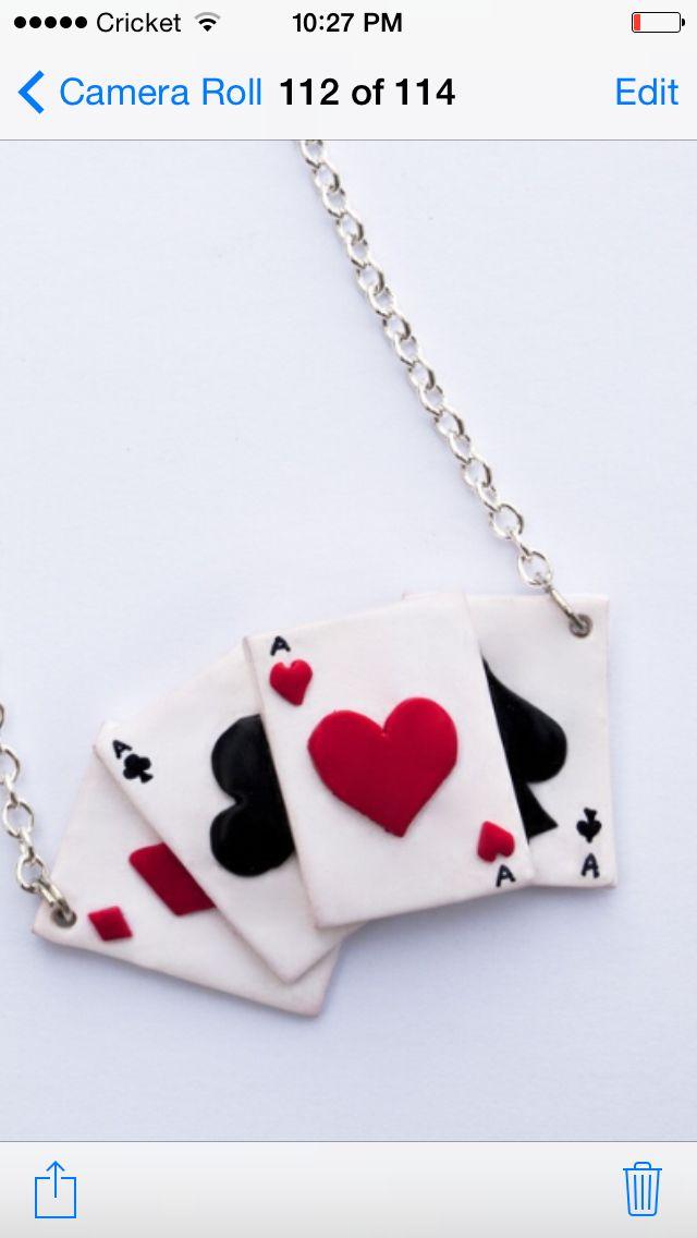 Ace card necklace
