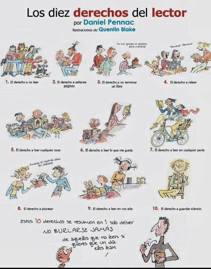 67 best libros images on pinterest books literature and book lovers los derechos del lector fandeluxe Image collections