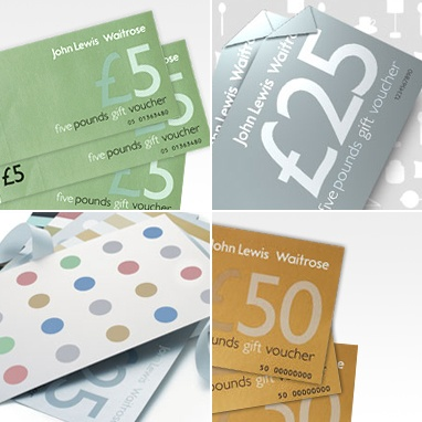 John Lewis vouchers for kitting out our house (when we buy it after the wedding!)