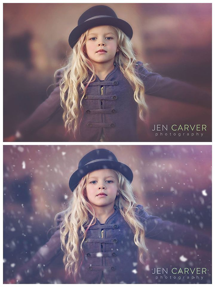"""""""Let It Snow"""" Brush and Action Set for Photoshop and Photoshop Element 