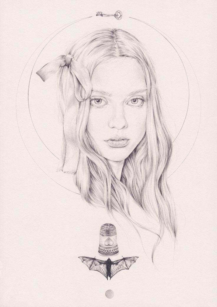 emmaleonard:  'Twinkle, Twinkle, Little Bat', 2013 Illustration by emma leonard Original for sale via Espionage Gallery, contact josh@espion...