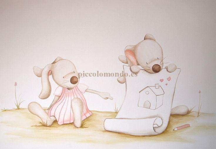 Murals infantiles - small world