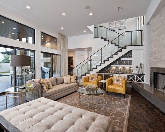 Contemporary Family Room Design, Pictures, Remodel, Decor and Ideas