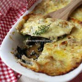 Wild mushroom and spinach lasagne | Savory Goodness | Pinterest