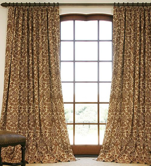 Hand Made Patterned Linen Drapes and Roman Blinds on Sale | DrapeStyle | 800-760-8257